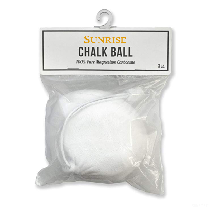 Refillable White Gym Chalk Ball for Gymnastics, Climbing, Gym Workouts